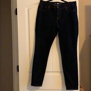 Women skinny blue jeans size 14